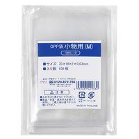 伊藤忠リーテイルリンク OPP袋(テープなし) 小物用M 横70×縦100mm 透明袋 1セット(500枚:100枚入×5袋)