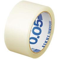 「現場のチカラ」軽梱包用OPPテープ 0.05mm厚 50m巻 1箱(50巻:5巻入×10パック) アスクル