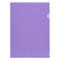 プラス 高透明カラークリアホルダー A4 パープル 1箱(600枚)