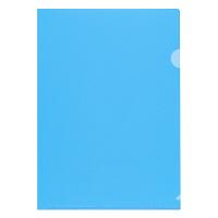 プラス 高透明カラークリアホルダー A4 ブルー 1箱(600枚)