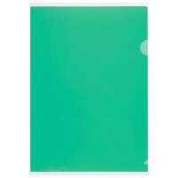 プラス 高透明カラークリアホルダー A4 グリーン 1袋(100枚)