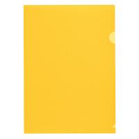 プラス 高透明カラークリアホルダー A4 オレンジ 1袋(100枚)