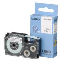 カシオ ネームランドテープ 抗菌テープ 12mm 白テープ(黒文字) 1個 XR12BWE