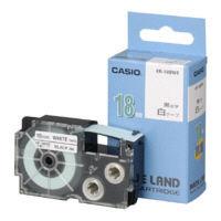 カシオ ネームランドテープ 抗菌テープ 18mm 白テープ(黒文字) 1個 XR18BWE