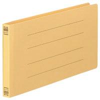 フラットファイル(統一伝票用)樹脂製とじ具 背幅18mm イエロー NO.062N 76027 1袋(10冊入) (直送品)