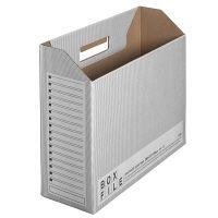 プラス ボックスファイルエコノミータイプ A4 ダークグレー FLー099BF 業務用パック 1箱(50冊:10冊入×5袋) (直送品)