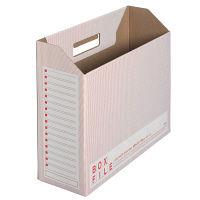 プラス ボックスファイル(エコノミータイプ) A4 レッド FLー099BF 1袋(10冊入) (直送品)
