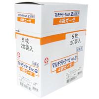 白十字 マルチテトラーゼ 滅菌済 4折×5枚入 14821 1箱(20袋入)