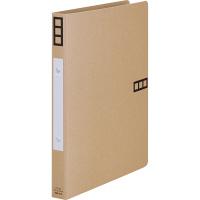 リングファイル 丸型2穴 A4タテ 背幅27mm 10冊 アスクル シブイロ ベージュ