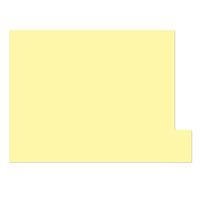 日本ホップス 仕切りガイド ラテラル A4 パステルイエロー DG-A4L11 1袋(10枚入) (直送品)