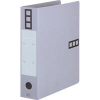 アスクル パイプ式ファイル A4タテ とじ厚50mm 10冊 シブイロ グレー