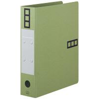 アスクル パイプ式ファイル A4タテ とじ厚50mm 10冊 シブイロ グリーン