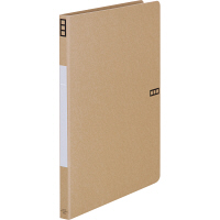 Z式パンチレスファイル A4タテ 背幅15mm 10冊 アスクル シブイロ ベージュ