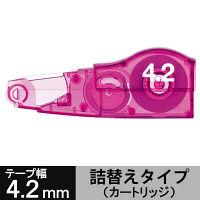 修正テープ ホワイパーMR交換テープ(アスクル限定) 幅4.2mm×6m ピンク 10個 WH-634A-R プラス