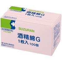 スズラン 酒精綿G 13205084 1箱(1枚入×100包)