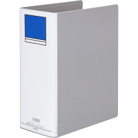アスクル パイプ式ファイル片開き ベーシックカラー(2穴) A4タテ とじ厚100mm背幅116mm グレー 10冊