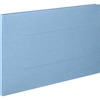 アスクル 背幅伸縮ファイル(紙製) A3ヨコ ブルー 50冊