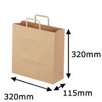 「現場のチカラ」 平紐手提袋 ベーシックタイプ 茶 無地 M 1箱(300枚:50枚入×6袋) アスクル