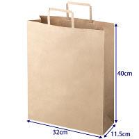 「現場のチカラ」 平紐手提袋 ベーシックタイプ 茶 無地 L 1箱(300枚:50枚入×6袋) アスクル