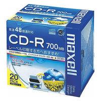 マクセル CD-R700MB 5mmプラケース インクジェットプリント対応 CDR700S.WP.S1P20S 1箱(120枚:20枚×6パック)