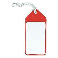 ネームタッグ レッド ASC805RD 1袋(5枚入) 共栄プラスチック (直送品)