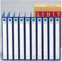 2穴リングファイル A4タテ 背幅35mm 縦306×横238mm 藍 1箱(10冊入) (直送品)