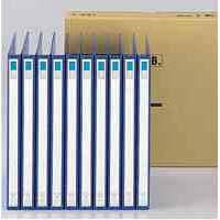 2穴リングファイル A4タテ 背幅27mm 縦306×横238mm 藍 1箱(10冊入) (取寄品)