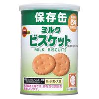 """""""非常食 缶入ミルクビスケット(キャップ付) 975664 1ケース(24缶入:75g×24缶) ブルボン"""""""