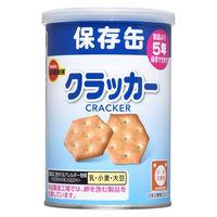 """""""非常食 缶入ミニクラッカー(キャップ付) 648932 1ケース(24缶入:75g×24缶) ブルボン"""""""