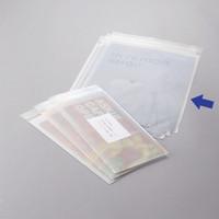 伊藤忠リーテイルリンク OPP袋(片面ホワイト印刷加工) 0.04mm厚 テープ付き A4 1セット(500枚:100枚入×5袋)