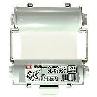 マックス 「ビーポップ」用インクリボン 白 SL-R102T 1箱(4個入)