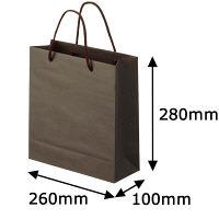 ナチュラルカラー手提袋 丸紐 こげ茶 S 1セット(25枚:5枚入×5袋) スーパーバッグ