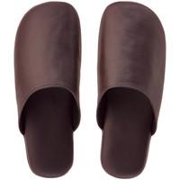 革袋縫いスリッパ M ブラウン 1セット(3足:1足×3)