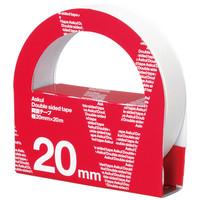 アスクル 両面テープ カッター付 幅20mm×20m 1箱(10巻入)