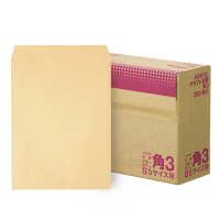 アスクル オリジナルクラフト封筒 角3 茶 600枚(200枚×3箱)