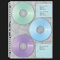 セキセイ CD・DVDポケット A4 DVD-1006 1箱(100枚:10枚入×10袋)