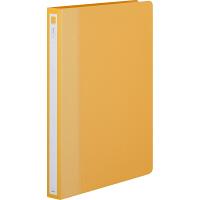 アスクル リングファイル A4タテ 丸型2穴 背幅27mm イエロー(黄) 60冊