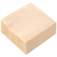 イデシギョー 植林木4つ折り 紙ナプキン 未晒し 1箱(10000枚:125枚入×80袋)