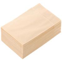 イデシギョー 植林木4つ折り 紙ナプキン 未晒し 2/3タイプ 1箱(10000枚:100枚入×100袋)