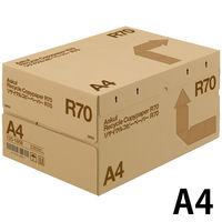 リサイクルコピーペーパーR70 A4 1箱(5000枚:500枚入×10冊) アスクル