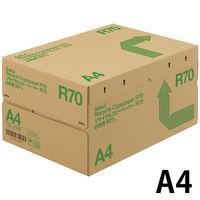リサイクルコピーペーパーR70 白色度80% A4 1箱(5000枚:500枚入×10冊) アスクル