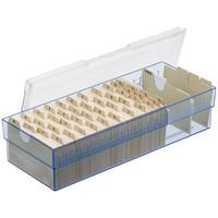 セキセイ 名刺ボックス クリヤーブルー CB-700 1セット(3個:1個×3)