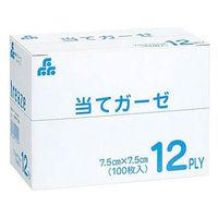 当てガーゼ 7.5×7.5 12PLY 530100301 1箱(100枚入) エフスリィー