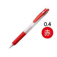 アスクル ノック式ゲルインクボールペン 0.4mm 赤 30本