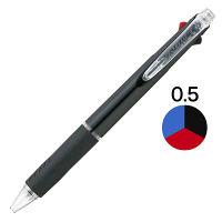 三菱鉛筆(uni) ジェットストリーム 3色ボールペン 0.5mm SXE3-400-05 黒軸 10本