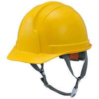 STARLITE(スターライト販売) ヘルメット(アメリカンタイプ)SS-100型 黄 頭囲/54cm~61cm FS-100AJZ-Y 1箱(14個入)