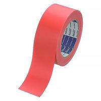 【ガムテープ】カラー布粘着テープ No.890 0.22mm厚 50mm×25m 赤 Monf 古藤工業 1セット(5巻入)