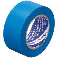 寺岡製作所「現場のチカラ」 貼ってはがせる養生テープ 1901 青 幅50mm×50m巻 1セット(5巻:1巻×5)
