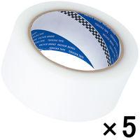 寺岡製作所 P-カットテープ 4140 強粘着 半透明 幅50mm×25m巻 1セット(5巻:1巻×5)