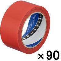 寺岡製作所 養生テープ P-カットテープ No.4140 塗装養生用 赤 幅50mm×長さ25m巻 1セット(90巻:30巻入×3箱)